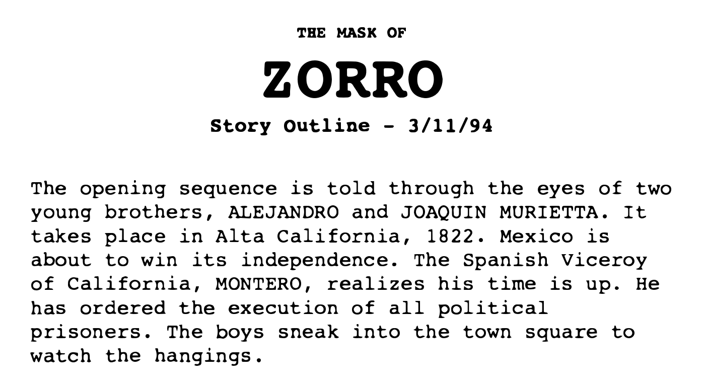 How to Write a Film Treatment Like the Pros - Zorro