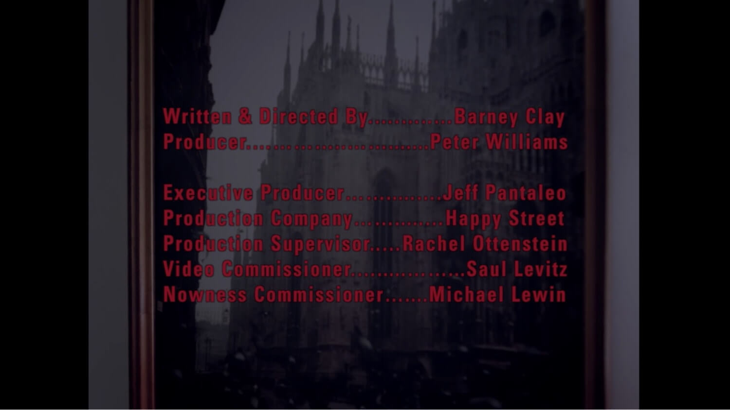 The Essential Music Video Credits Format Guide - Beyond the music video title card