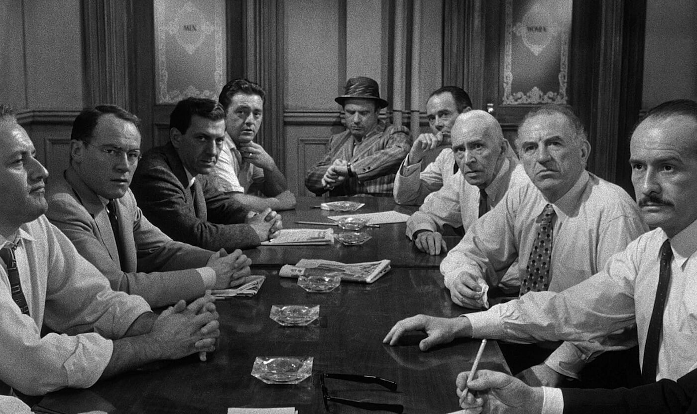 Ultimate Guide To Camera Shots - A Deep Focus Shot Shows Most Of The Gang In 12 Angry Men