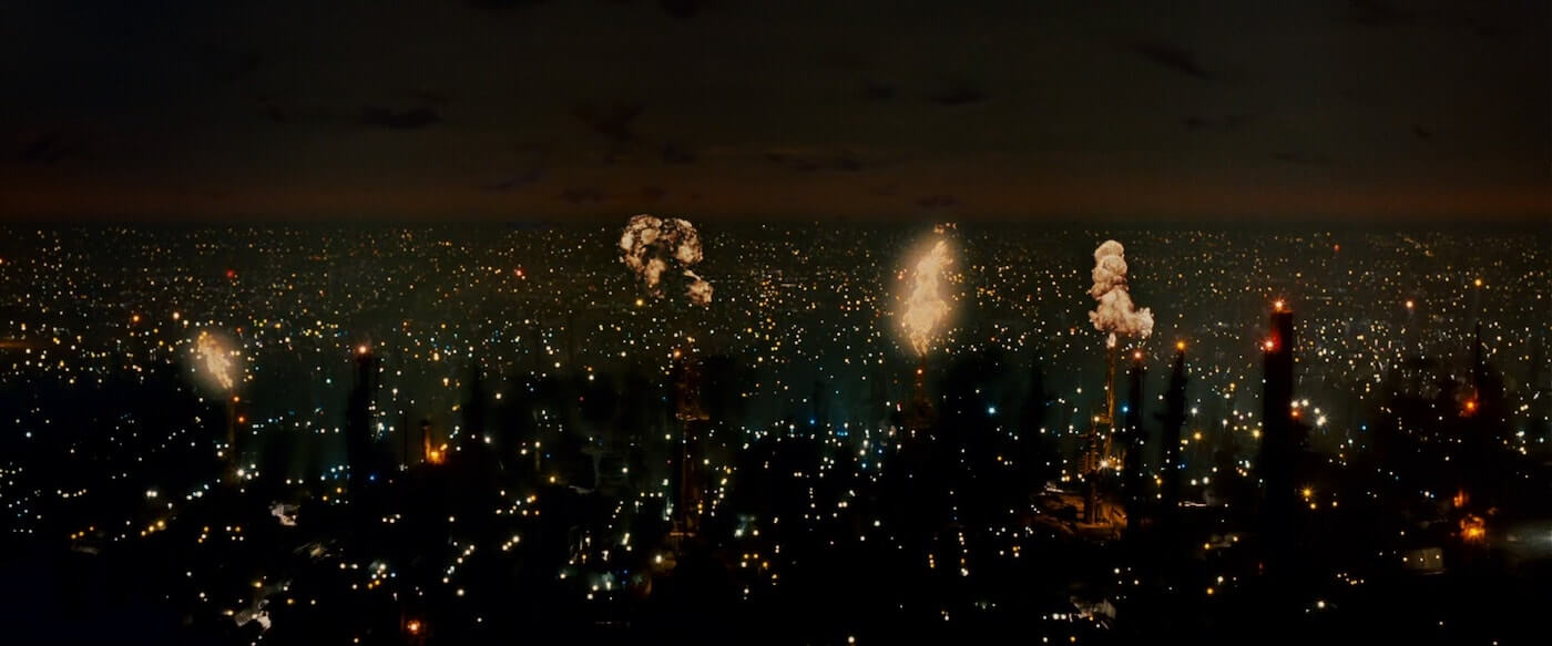 Ultimate Guide To Camera Shots - An Aerial Shot Captures Los Angeles In Blade Runner