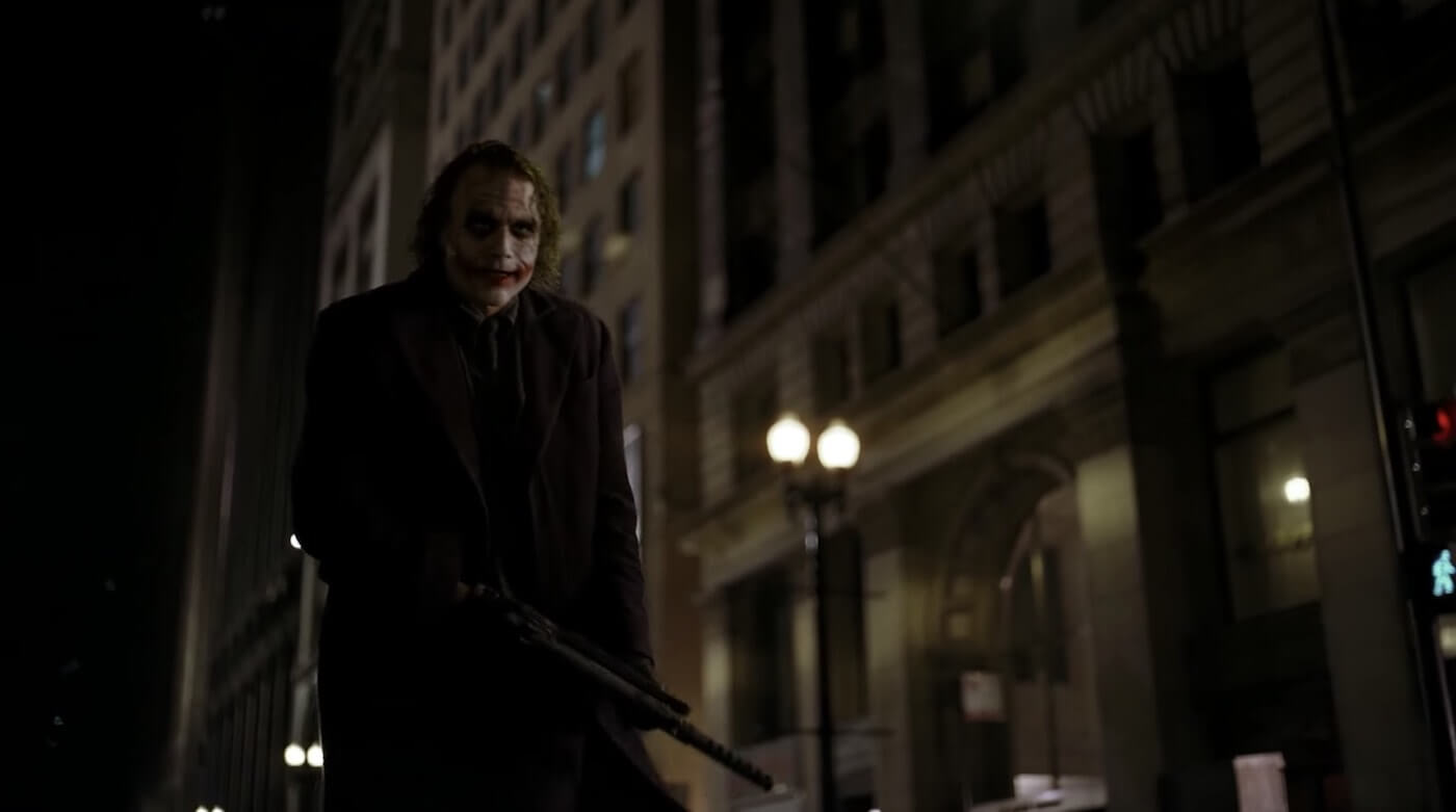 Ultimate Guide To Camera Shots - Medium Long Shot Low Angle In The Dark Knight