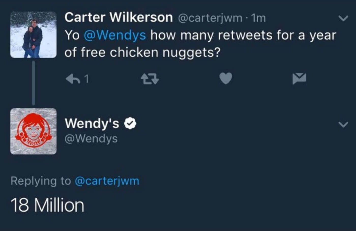 Wendy Tweet 18 million - Learn from the best Marketing campaigns of 2017