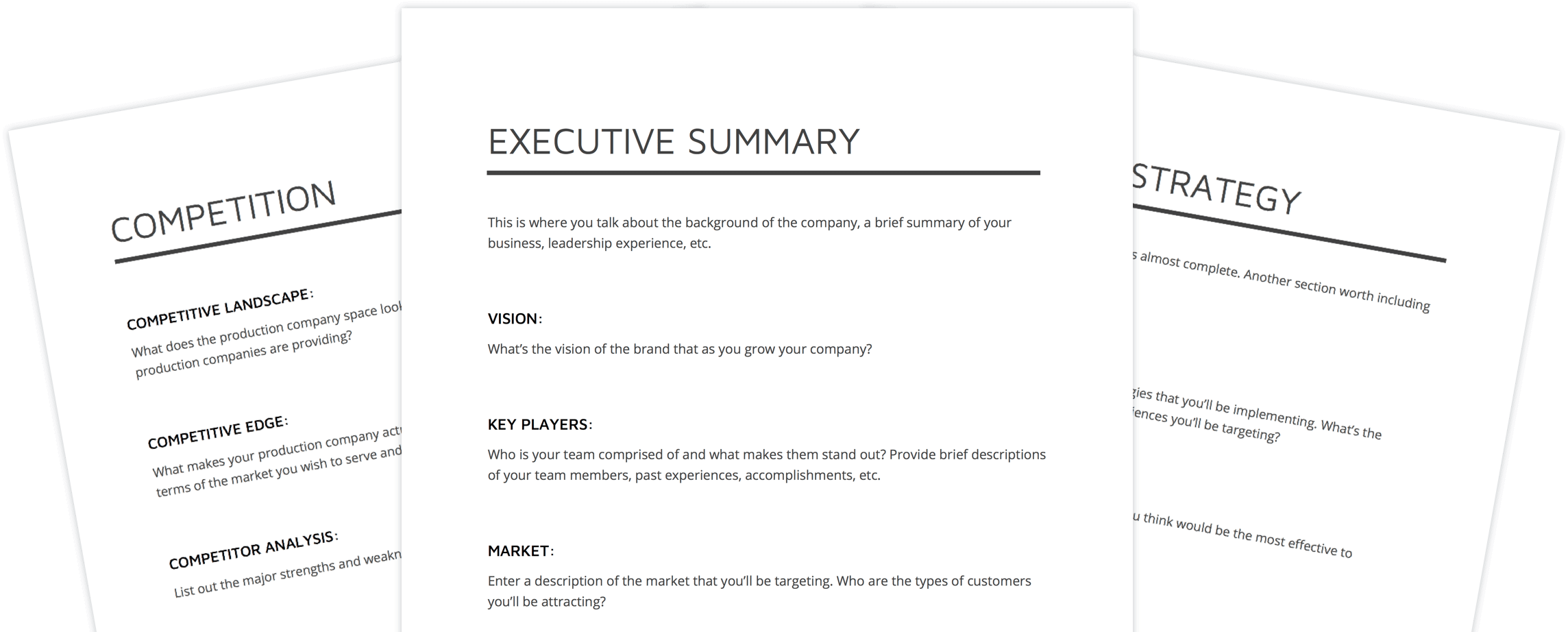 Business Plan Template for Video Production - StudioBinder
