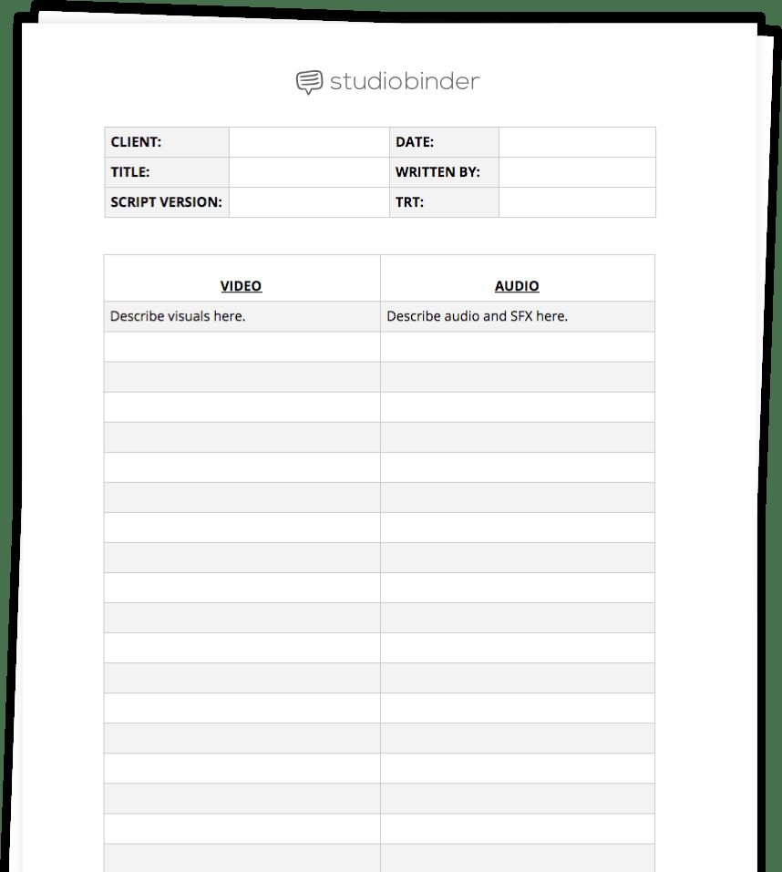 ultimate av script template to write better ads free av script