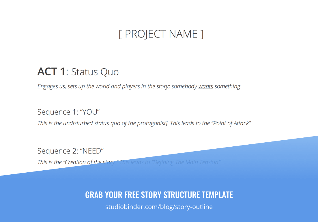 How To Write A Story Outline That Works Free Script Outline Template