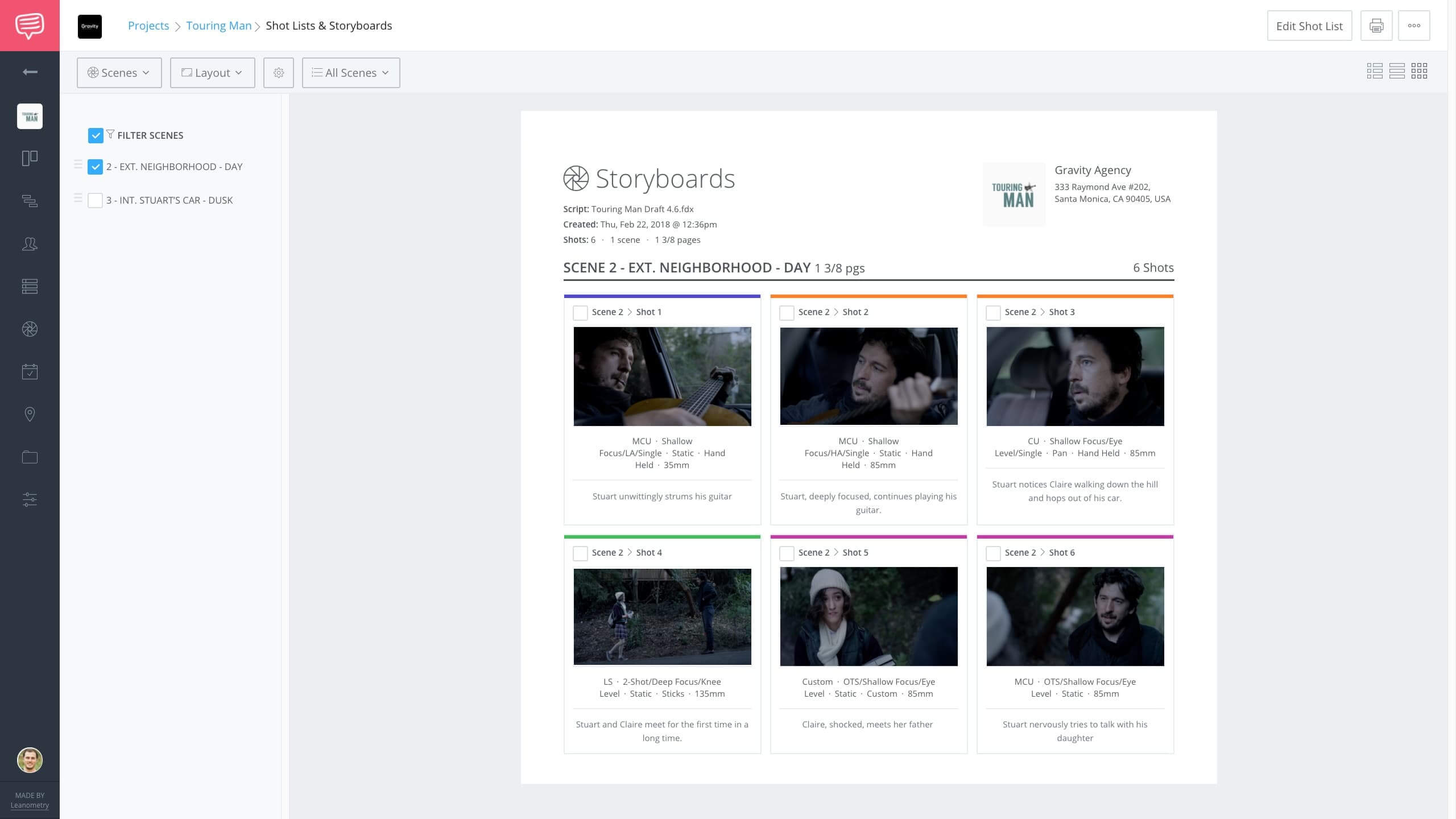 Storyboard That Creator Alternative - StudioBinder Storyboard Maker - Film Project Management Software - Print View