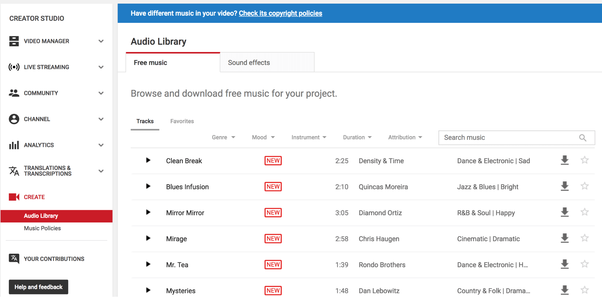 Youtube Royalty Free Music - YouTube Audio library