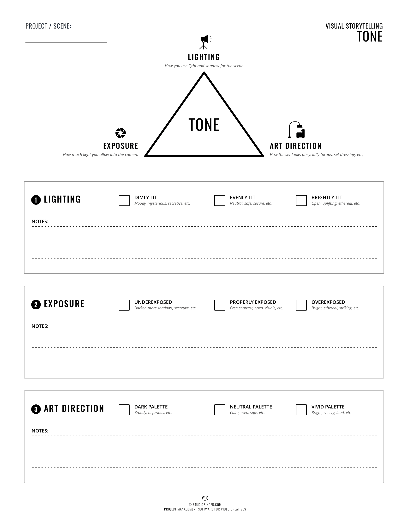 Visual Storytelling - Tone Worksheet