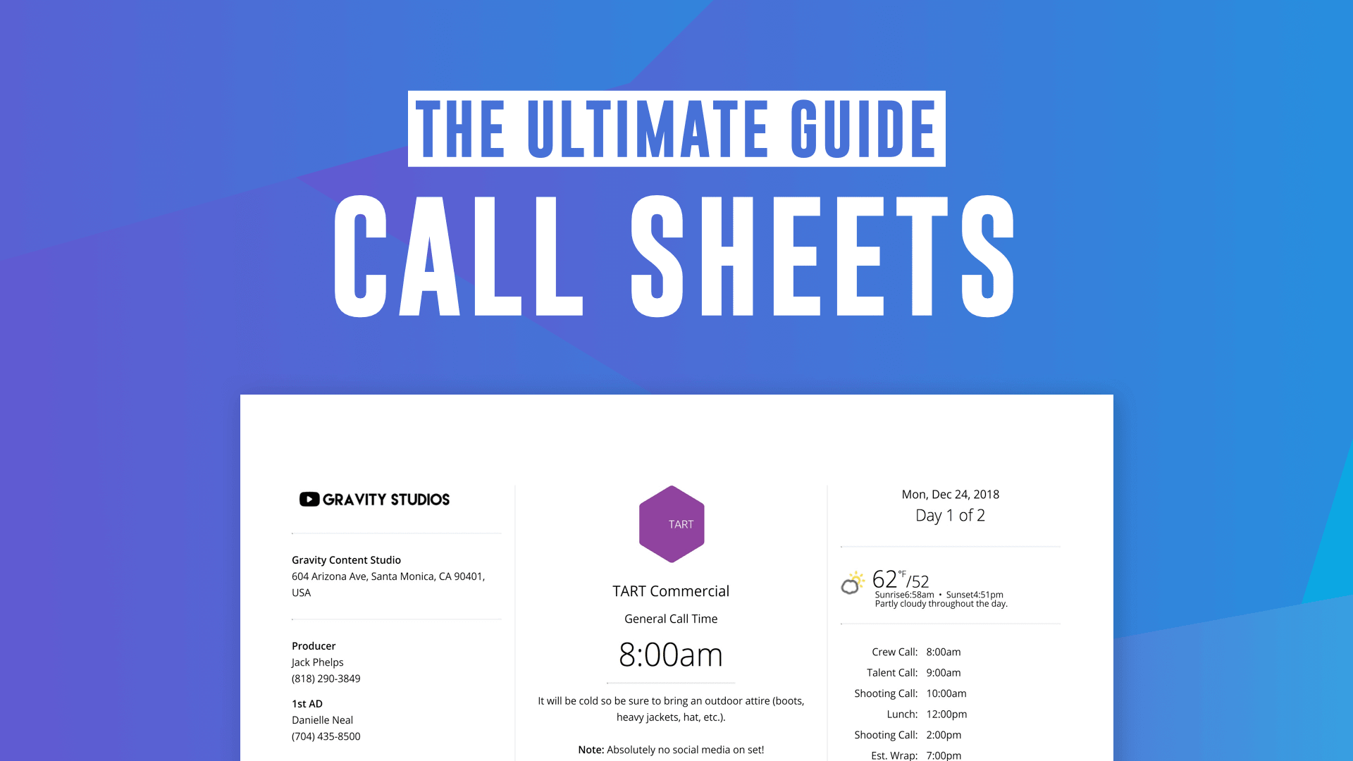 the ultimate guide to call sheets  with free call sheet