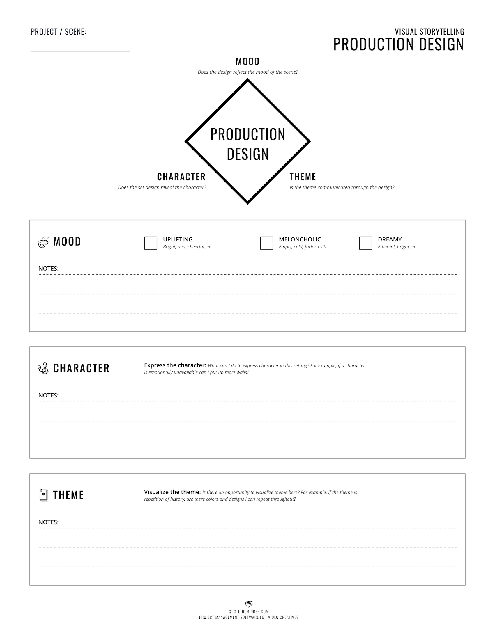 Visual Storytelling - Production Design