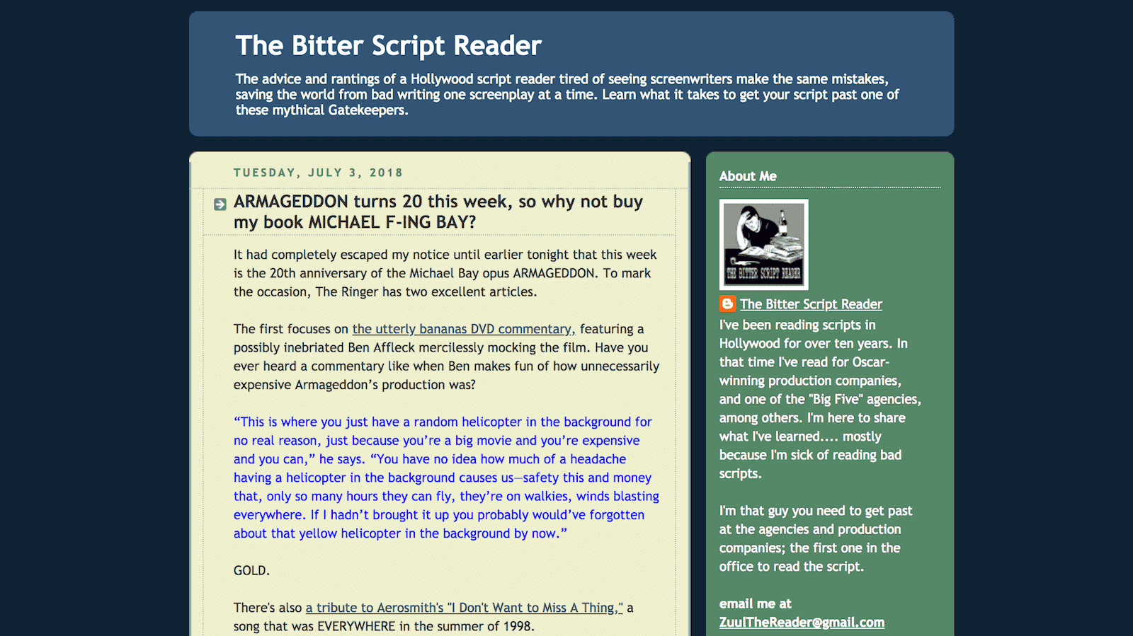 Best Screenwriting Websites - Script Writers - Bitter Script Reader Blog-min