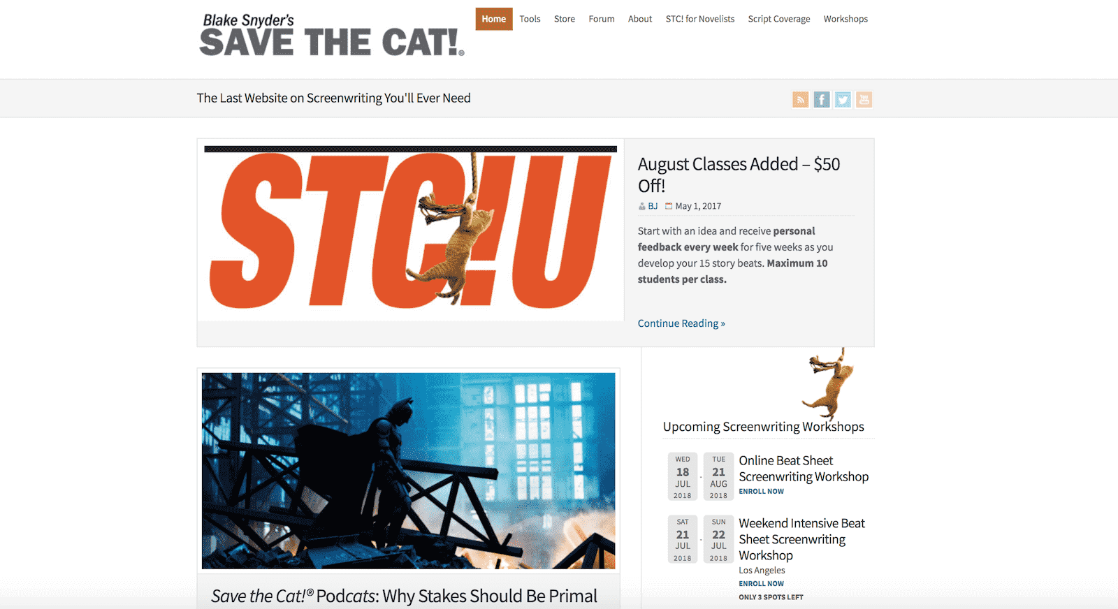 Best Screenwriting Websites - Script Writers - Save The Cat-min