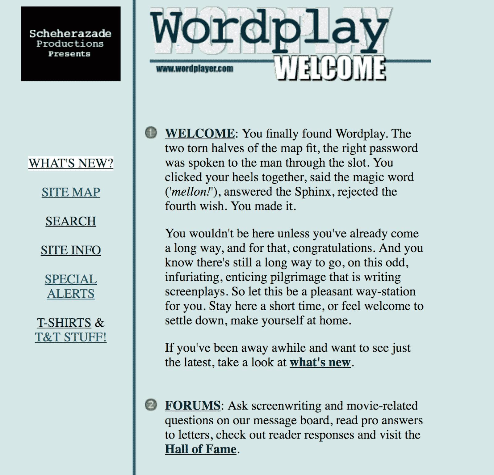 Best Screenwriting Websites - Script Writers - Wordplayer Terry Rossio