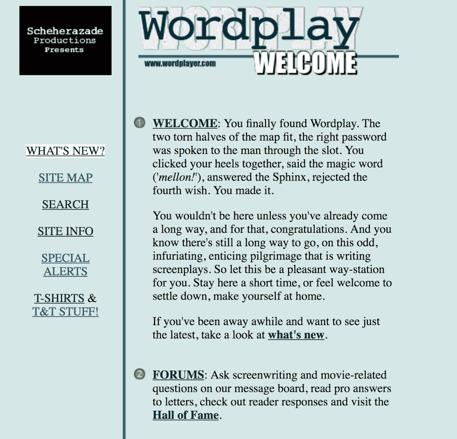 Best Screenwriting Website - Script Writers - Wordplayer Terry Rossio