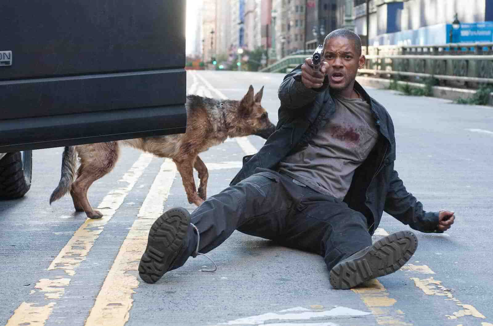 High Angle Shot - Camera Angles - I am Legend