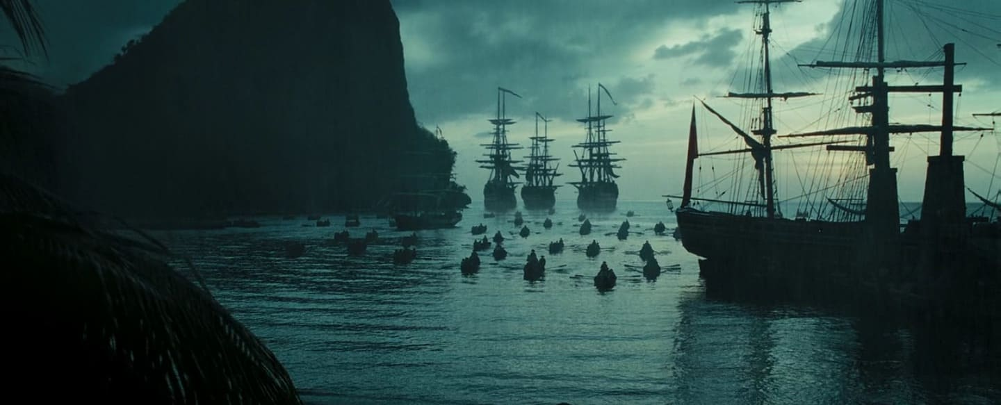 Wide Angle Shot - Camera Movements and Angles- Pirates of The Caribbean