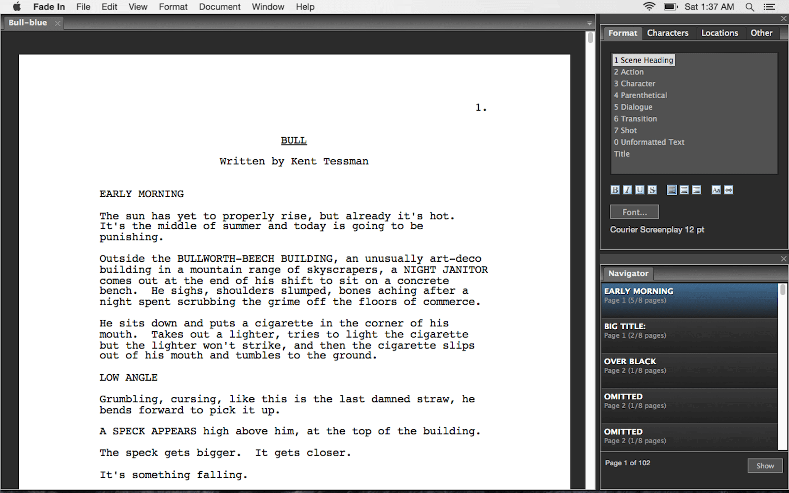 the best free script writing software for professional screenwriters