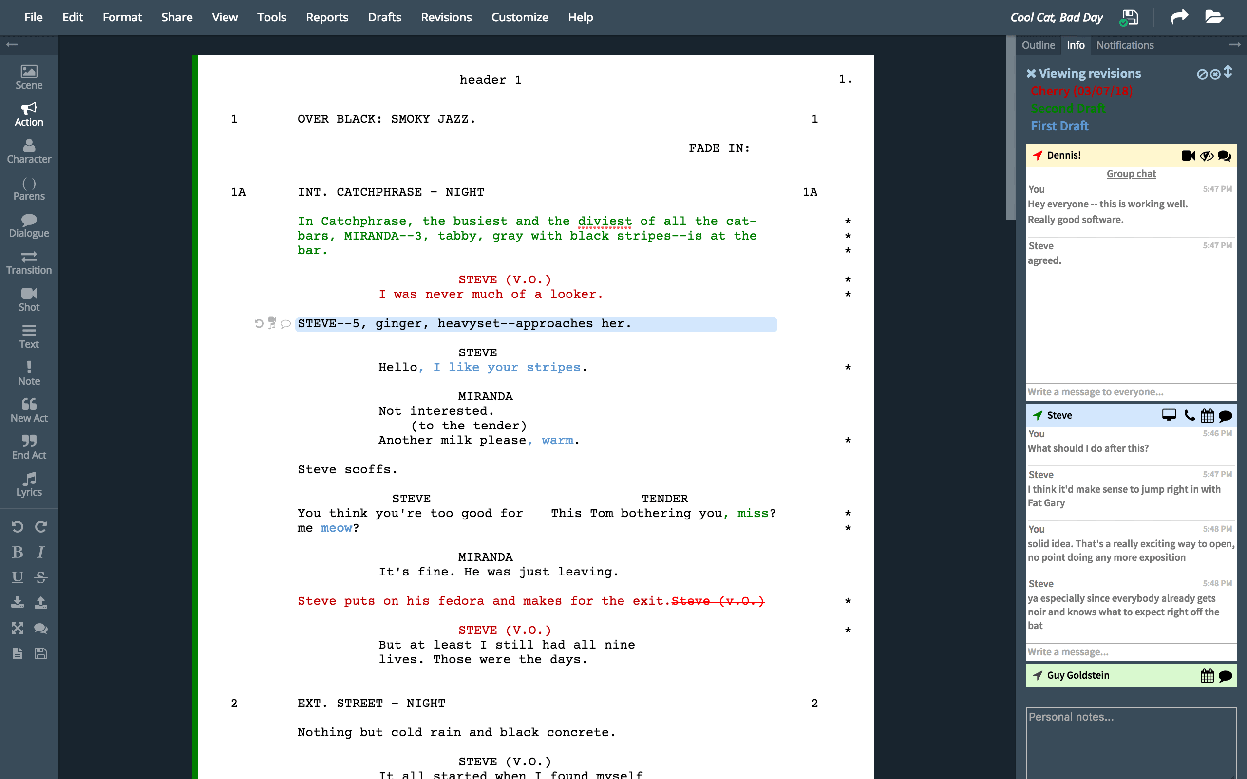 script writing app
