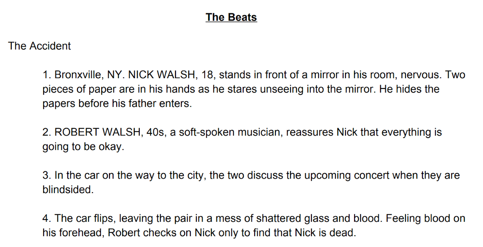 Script Outline Template The Beats