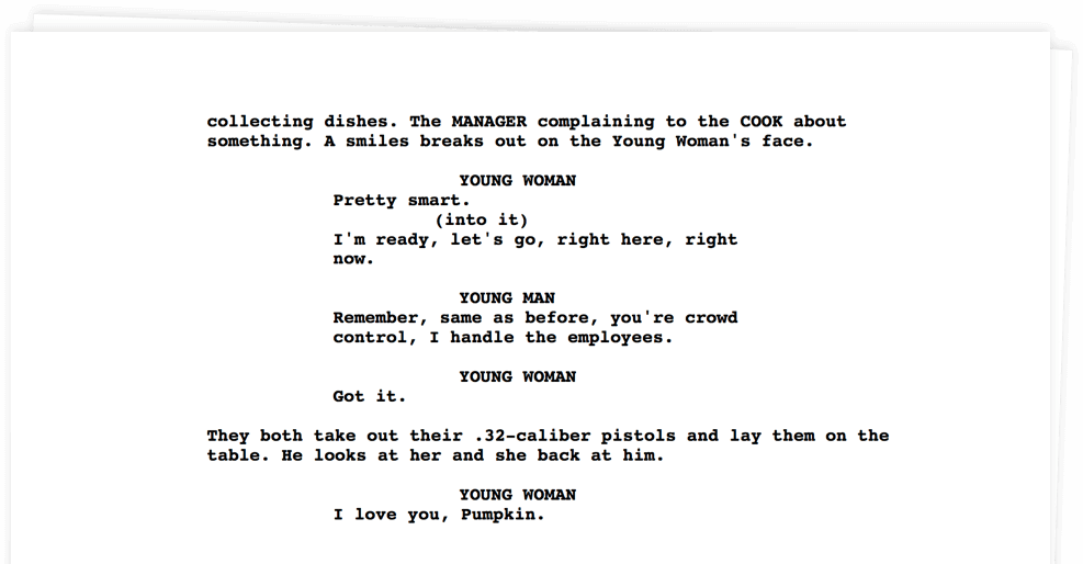 Exit Intent Script - Pulp Fiction - StudioBinder