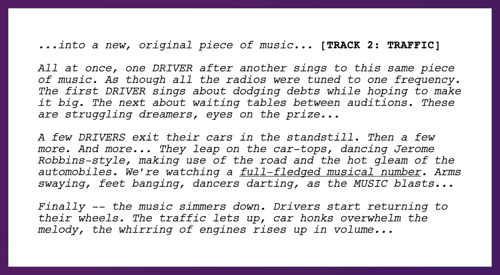 La La Land Script Opening Sequence - StudioBinder Scriptwriting Software