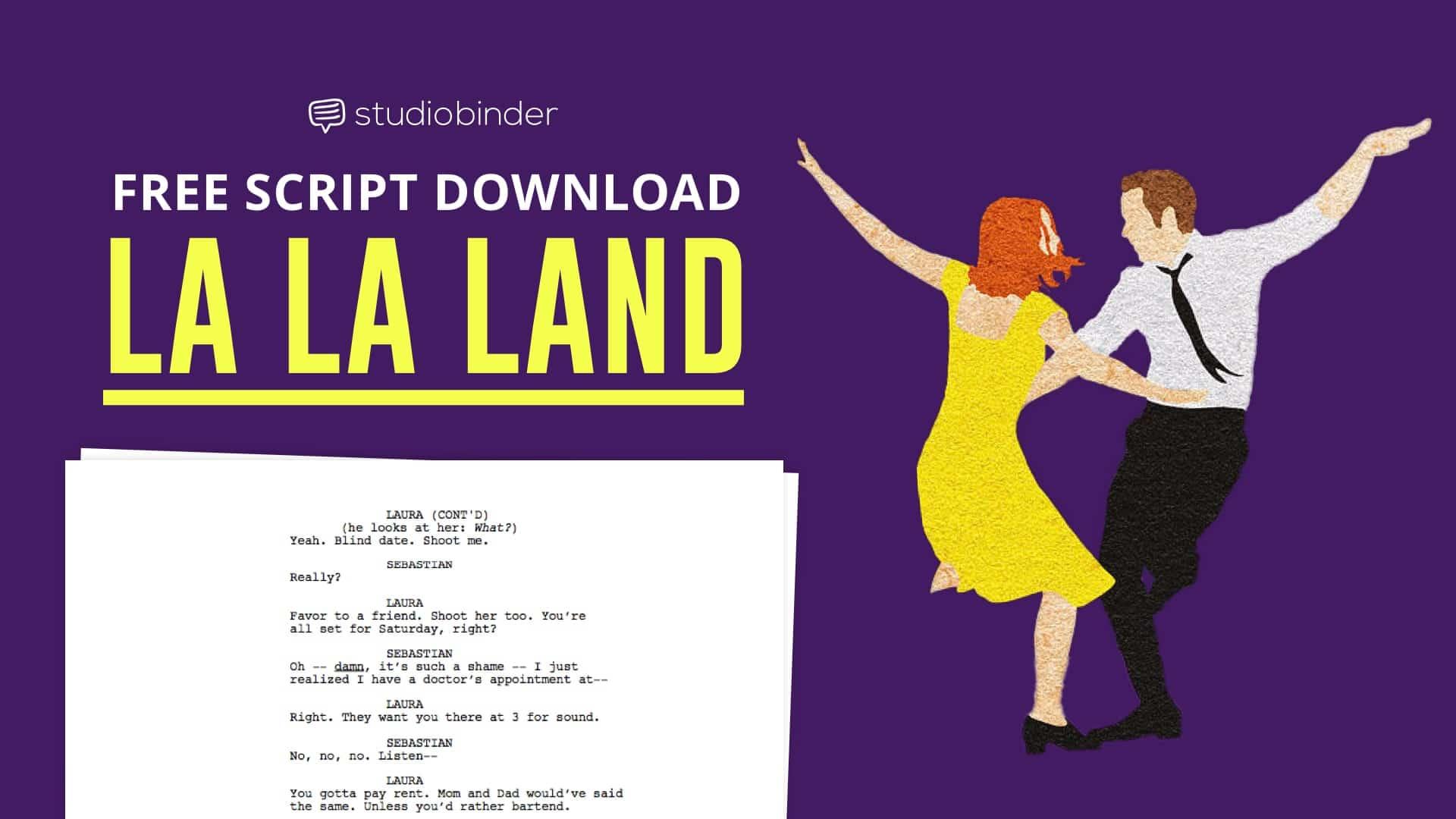 La la land script analysis free script download how to write musicals - La la land download ...