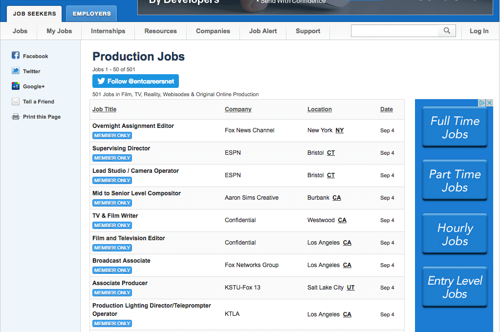 Production Assistant Duties and Description - Job Search 2