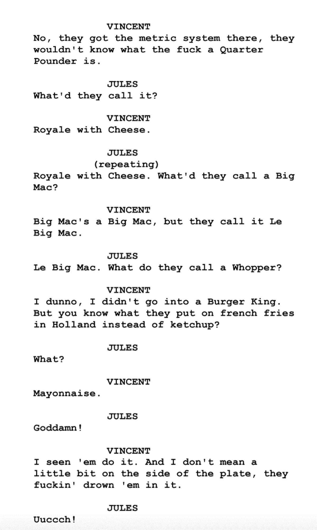 screenplay examples pulp fiction script free script download