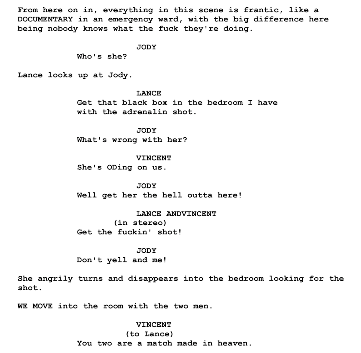 Screenplay Examples Pulp Fiction Script Snippet 2