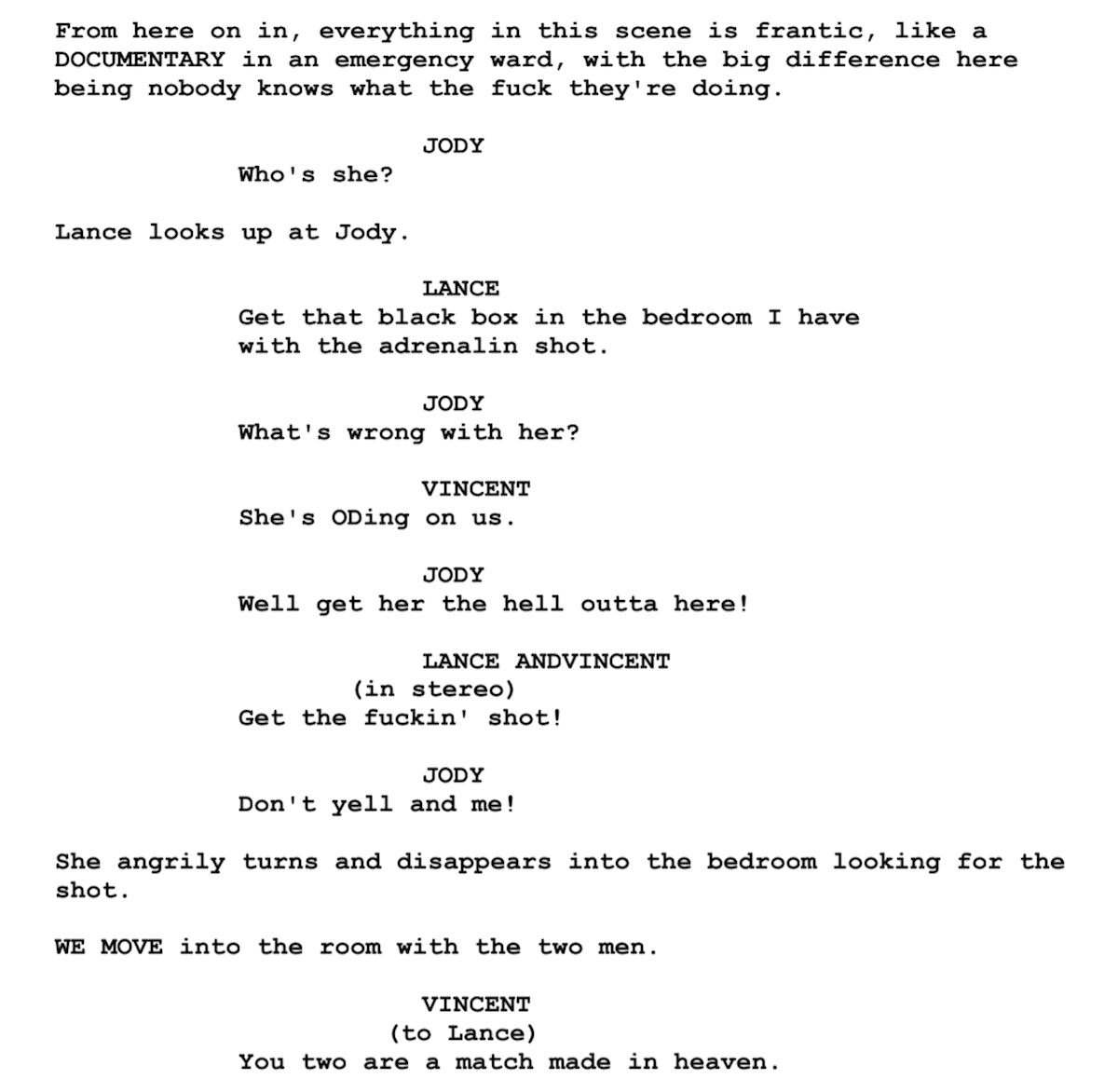Screenplay Examples - Pulp Fiction Script - Screenplay Snippet 2