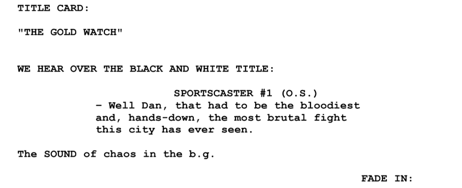 Tv Presenter Script Sample