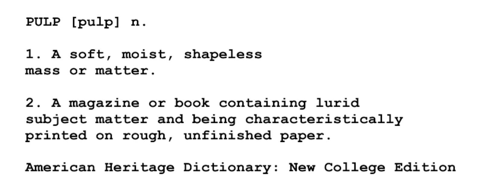 Screenplay Examples - Pulp Fiction Script - Screenplay Snippet 7 - Pulp Definition