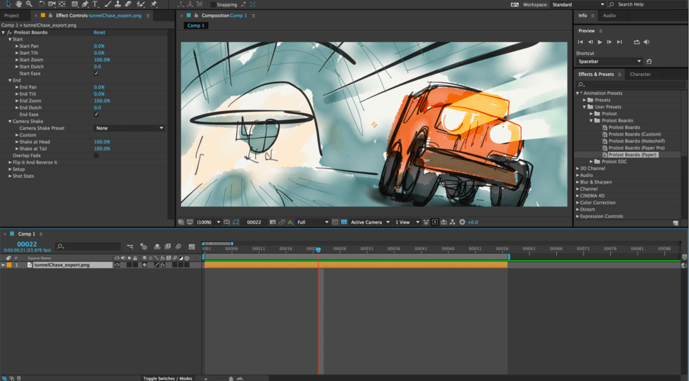 Best Storyboard Software - Prolost Boardo for After Effects