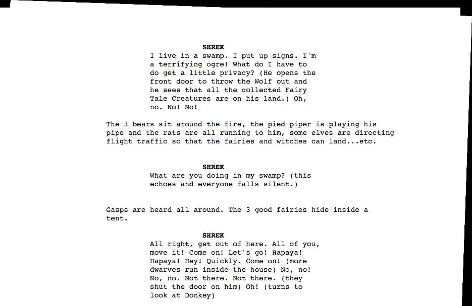 Shrek Script Downloadable