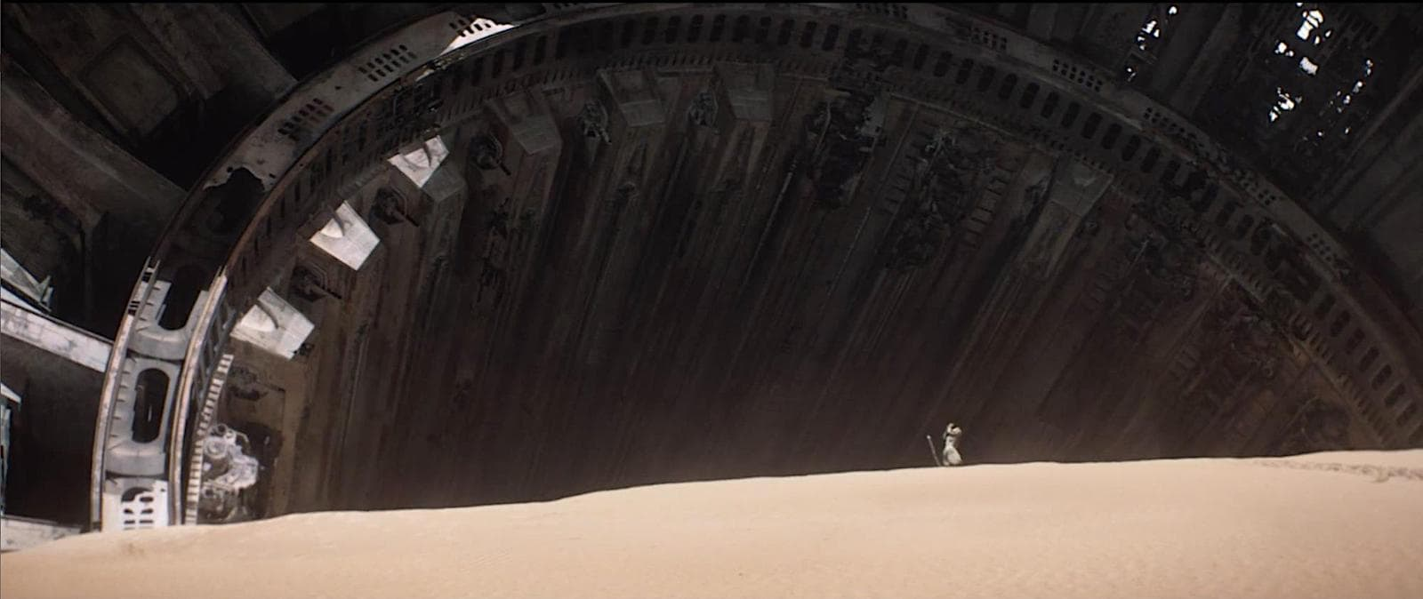 Extreme Wide Angle Shot - Camera Movements and Camera Angles - The Force Awakens