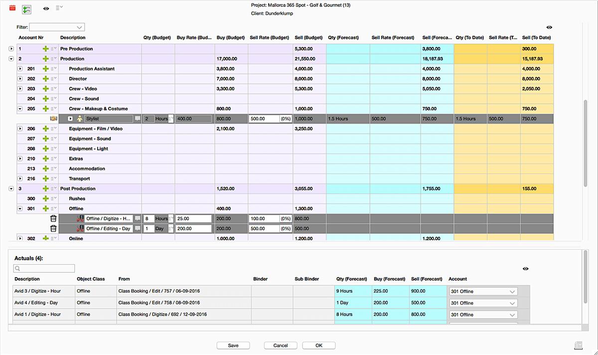 Film Budget Farmerswife Film Budgeting Software