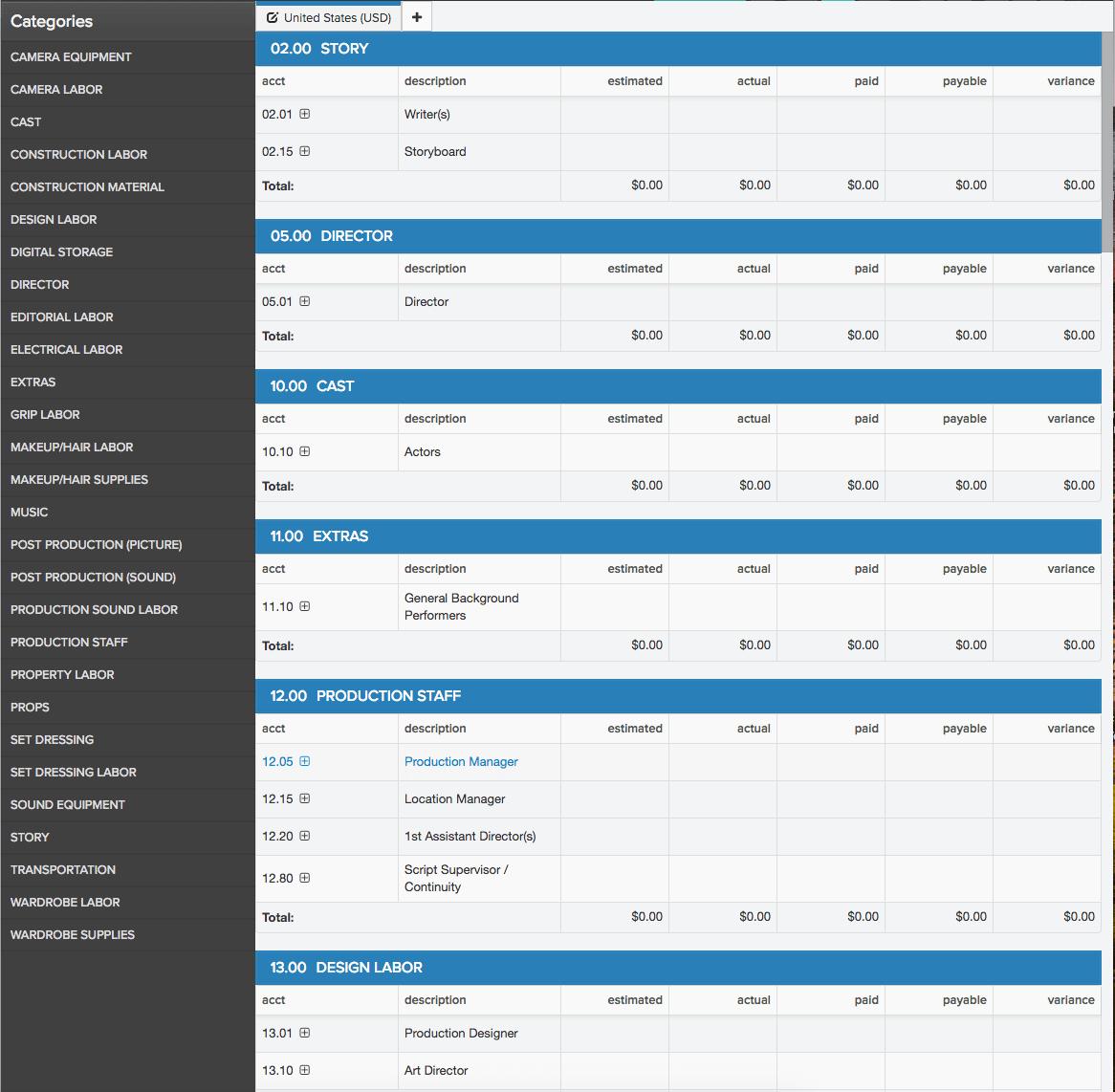 Free Budget Software Celtx Production Suite