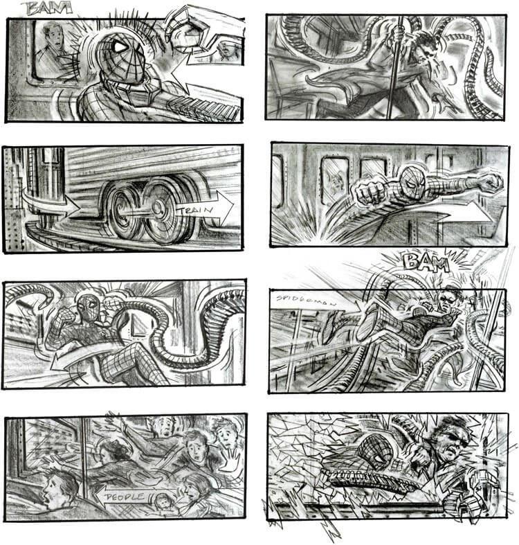 Storyboard Examples Spiderman 2