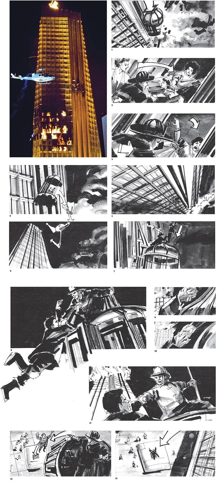 Storyboard Examples The Towering Inferno