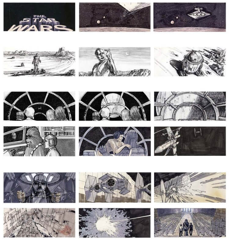 Storyboard Examples Star Wars A New Hope