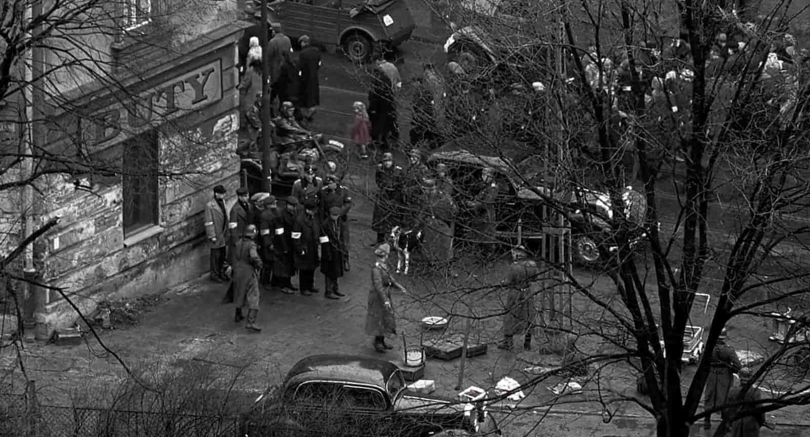 Wide Angle Shot - Camera Movements and Camera Angles - Schindlers List - 4