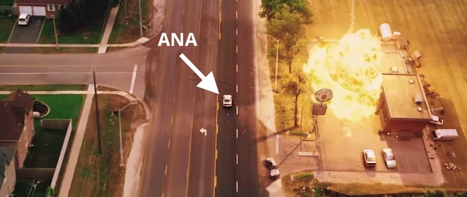 Aerial Shot - Camera Angles and Movement - Car Explosion Shot - Dawn of the Dead