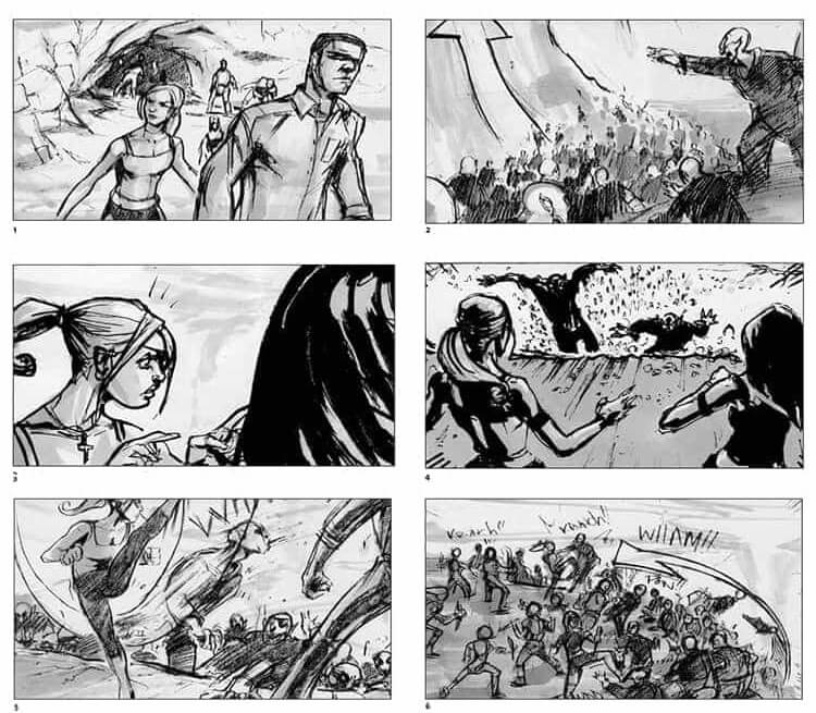 Film Storyboard Examples - Movie Storyboard Sample - Charles Ratteray - Joss Whedon - Buffy the Vampire Slayer - StudioBinder
