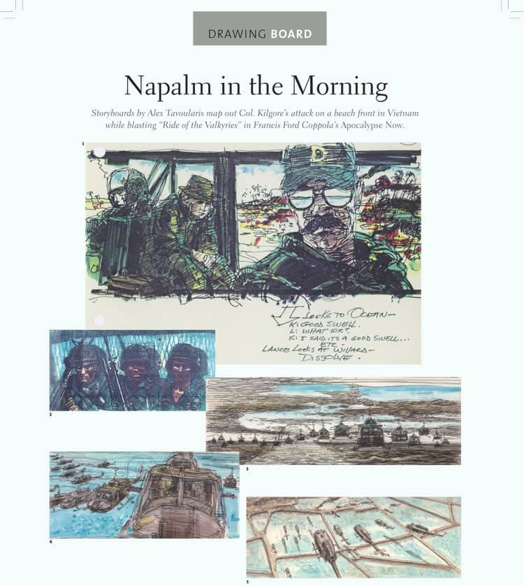 Film Storyboard Examples - Movie Storyboard Sample - Francis Ford Coppola - Apocalypse Now - StudioBinder