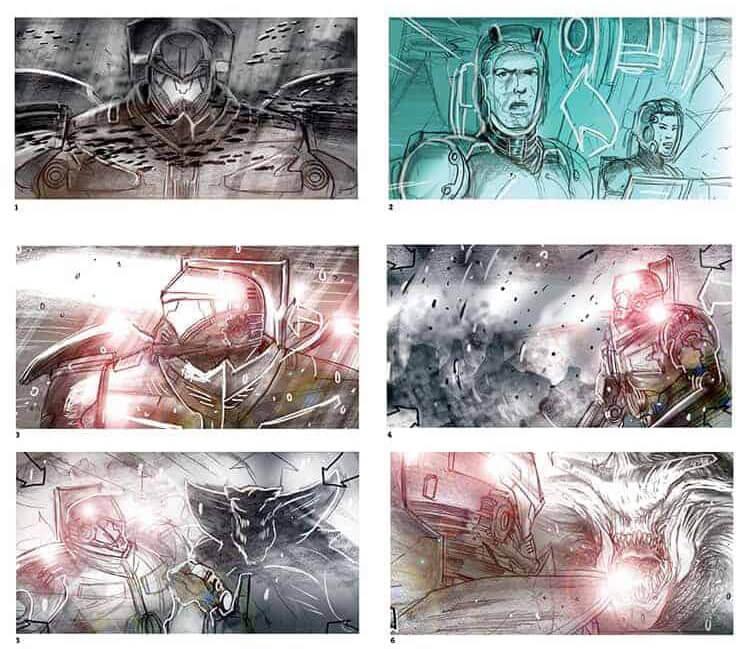 Film Storyboard Examples - Movie Storyboard Sample - Guillermo del Toro - Pacific Rim - StudioBinder
