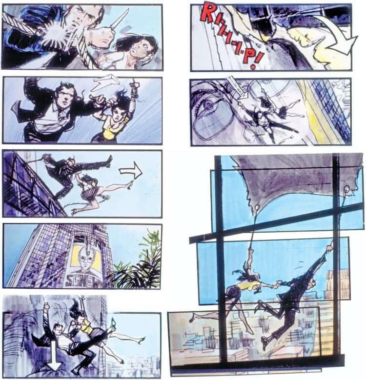 Film Storyboard Examples - Movie Storyboard Sample - Martin Asbury - Roger Spottiswoode - Tomorrow Never Dies - StudioBinder