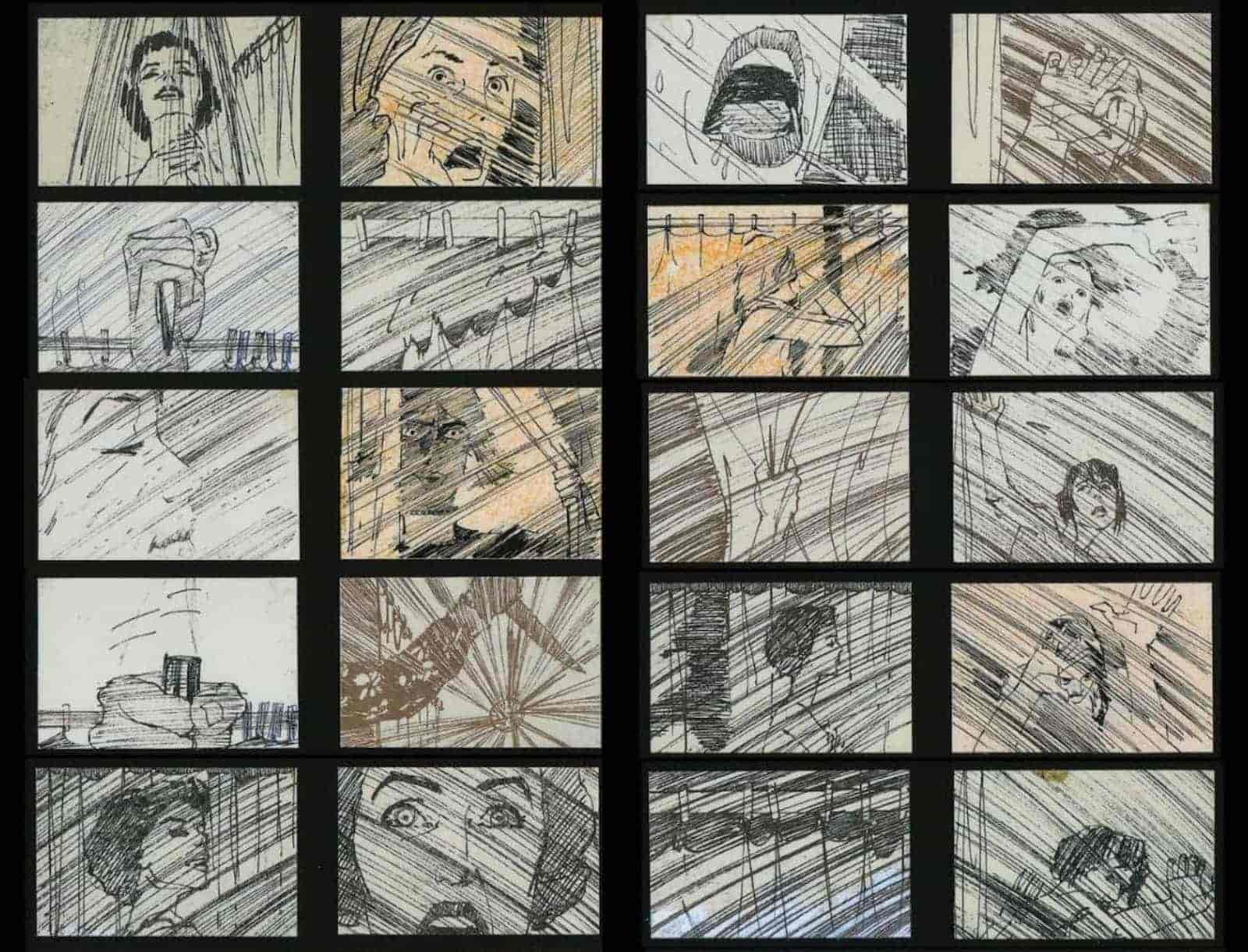 Film Storyboard Examples - Storyboard Sample Alfred Hitchcock - Psycho - StudioBinder