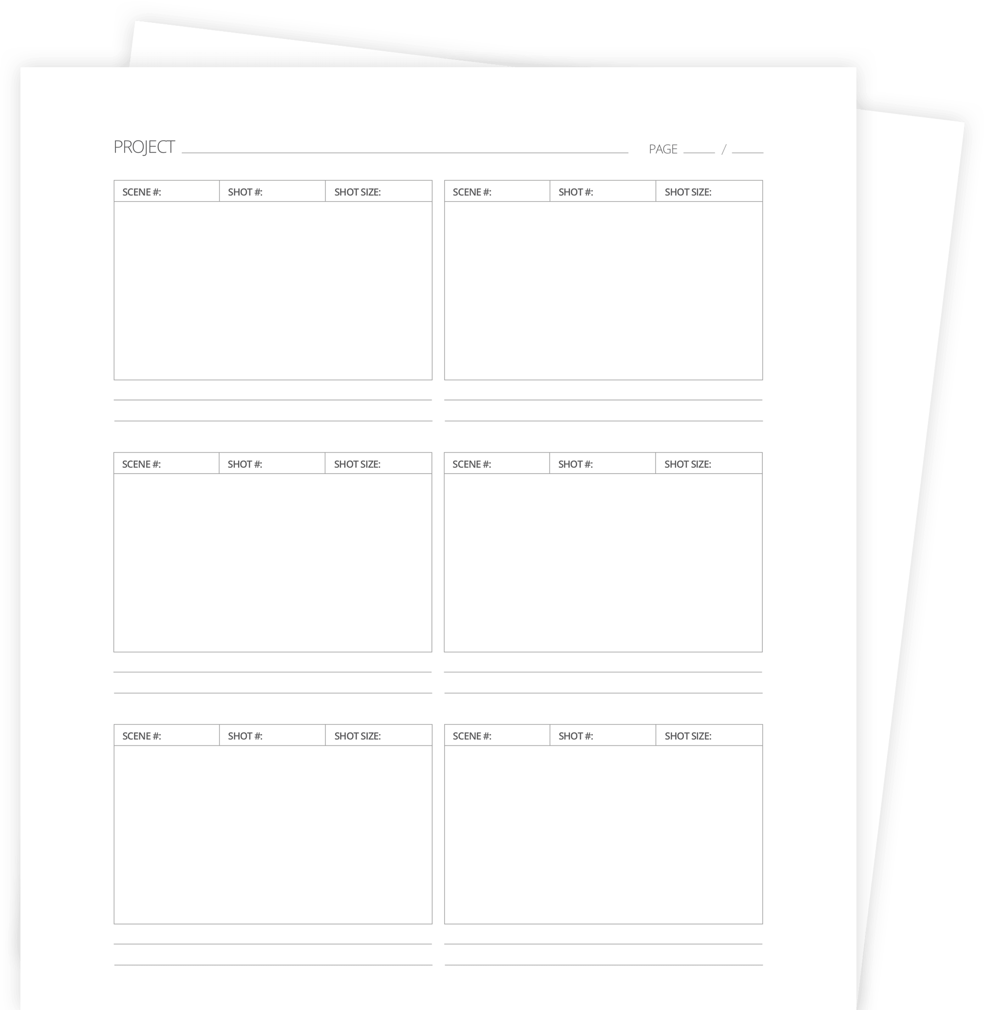 graphic relating to Printable Storyboard referred to as 60+ Free of charge Storyboard Templates Writer (PDF, PSD, PPT, DOCX)