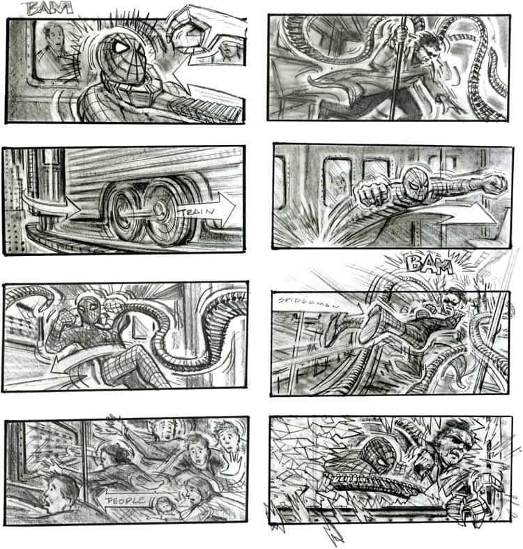 Storyboard Examples - Chris Buchinsky - Sam Raimi - Spider-Man 2 - StudioBinder