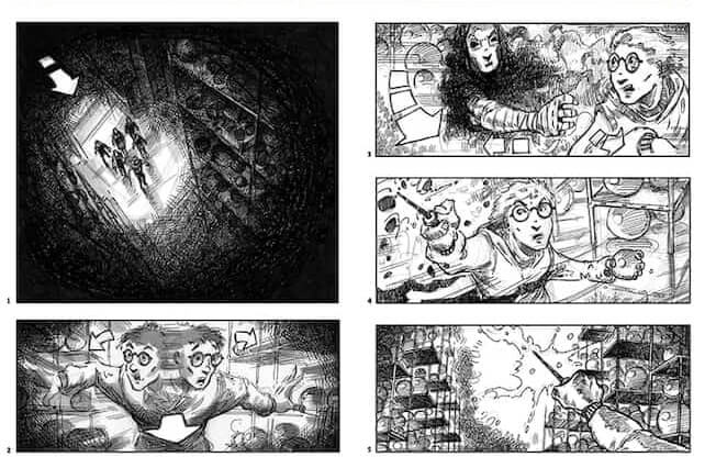 Storyboard Examples - Jim Cornish - David Yates - Harry Potter and the Order of the Phoenix - StudioBinder